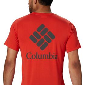 Columbia Maxtrail Logo Maglietta a maniche corte Uomo, wildfire